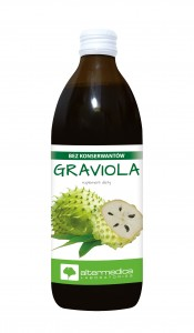 GRAVIOLA 500ml 100% puree z owoców Gravioli DATA: 01.2021.